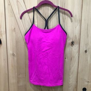 Lululemon Power Y Tank Top Size 10 Hot Neon Pink